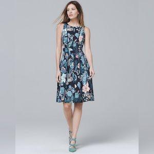NWOT White House Black Market Floral Flare Dress